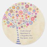 Return Address Candy Retro Tree Label Sticker