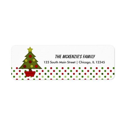 Return Address Dots Return Address Label