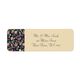 Return Address for Elegant Vintage Blue Rose Return Address Label