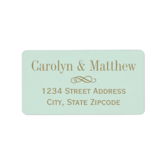 Return Address Label | Antique Gold Scroll