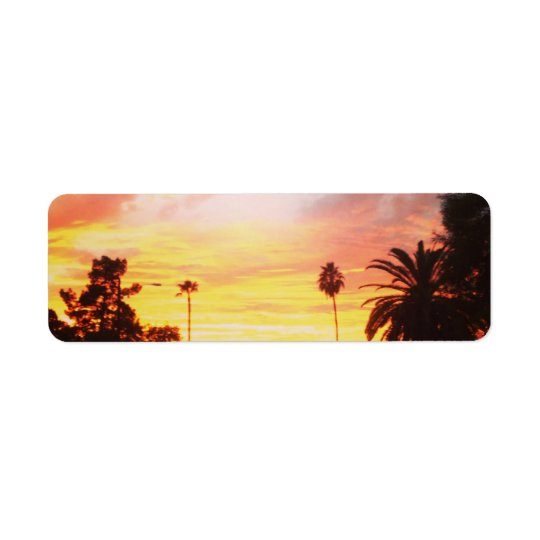 Return Address Label Arizona Sunset
