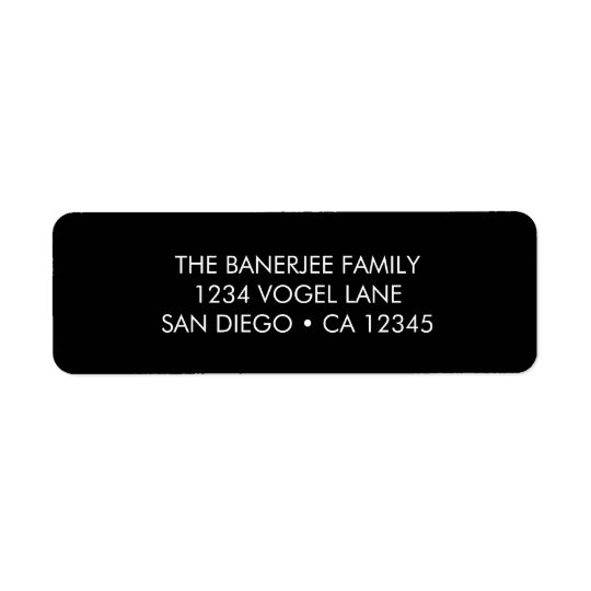 Return Address Label in Black