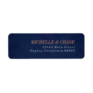 Return Address Label, Navy Blue, Wedding label Return Address Label