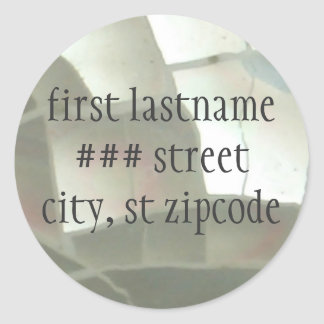 return address label - personalize round sticker