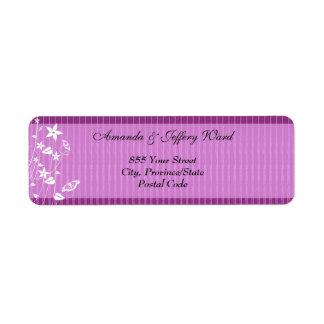Return Address Label   Pink Flower Butterfly