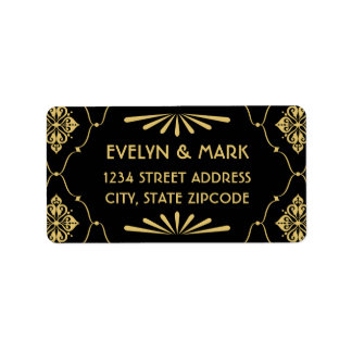 Return Address Labels | Art Deco Style