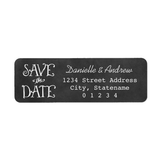 Return Address Labels | Black Chalkboard Charm