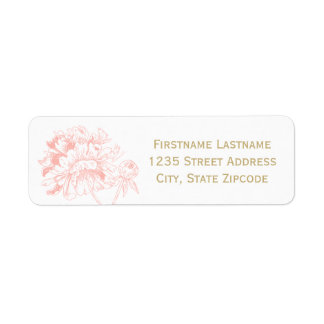 Return Address Labels | Blush Peony Design