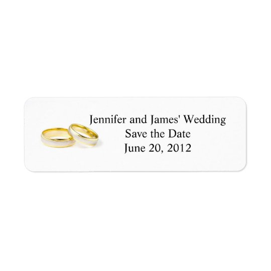 Return Address Labels Clipart Wedding Rings