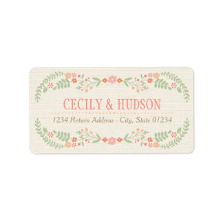 Return Address Labels | Country Florals Pink