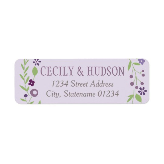 Return Address Labels | Country Florals Purple