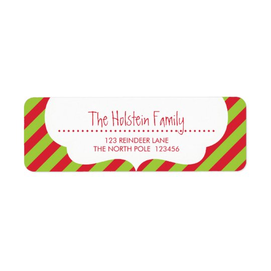 RETURN ADDRESS LABELS :: cupid's bow bright stripe