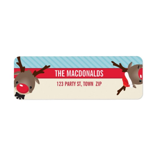 RETURN ADDRESS LABELS :: cute reindeer