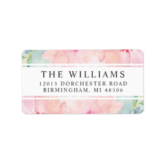 Return Address Labels | Daisy Watercolor Flowers