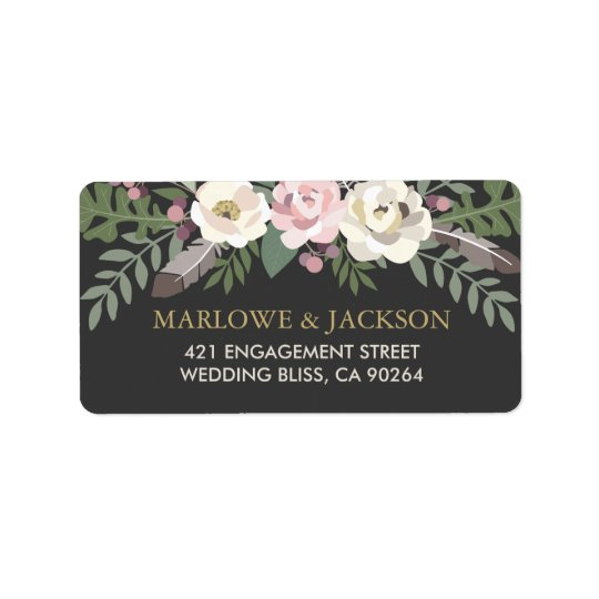Return Address Labels | Fall Boho Florals