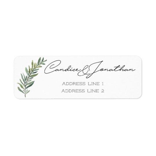 Return Address Labels for Candice