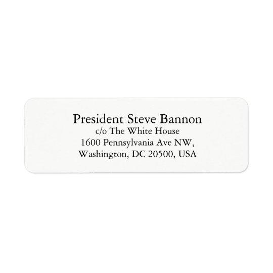 Return address labels for Steve