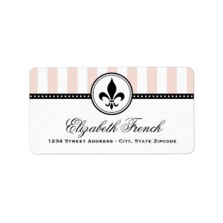 Return Address Labels | French Fleur de Lis Design