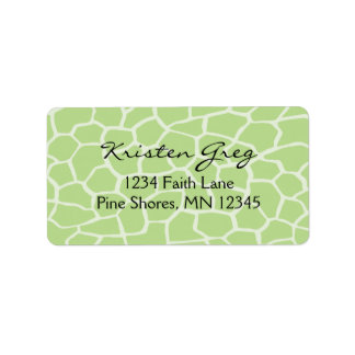 Return Address Labels │ Giraffe in Green