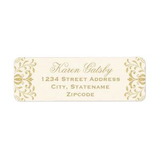 Return Address Labels | Gold Vintage Glamour