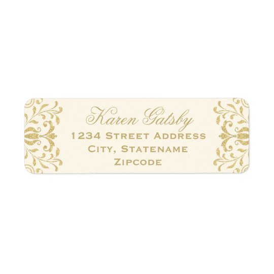 Return Address Labels | Gold Vintage Glamour