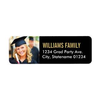 Return Address Labels   Graduation Photo Design
