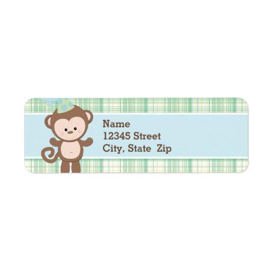 Return Address Labels - Monkey