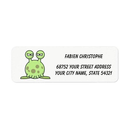 Return Address Labels. Monster. Return Address Label