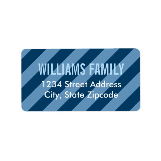 Return Address Labels | Navy Blue Stripes Pattern