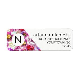 Return Address Labels - Pink Floral Watercolor