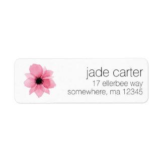 Return Address Labels - Pink Flower