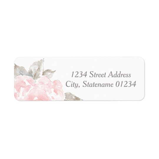 Return Address Labels | Pink Watercolor Roses