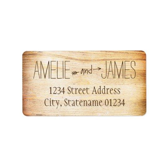 Return Address Labels | Rustic Wood Design