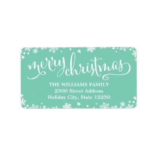 Return Address Labels   Script Merry Christmas