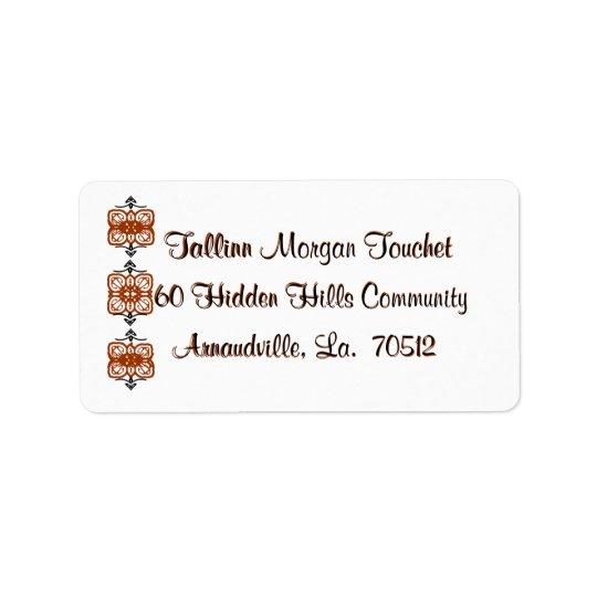 Return-address-labels-scrolls Address Label