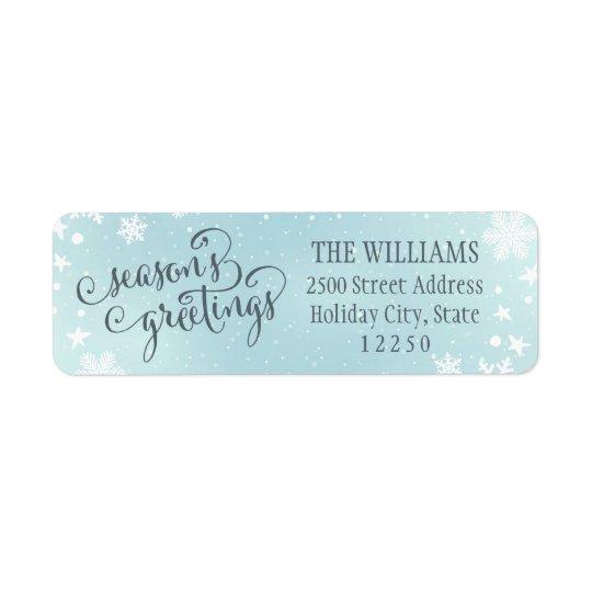 Return Address Labels | Season's Greetings