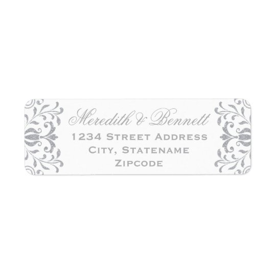 Return Address Labels | Silver Vintage Glamour