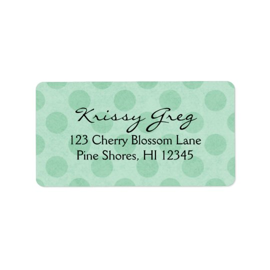 Return Address Labels │ Stylish Dots Mint Green