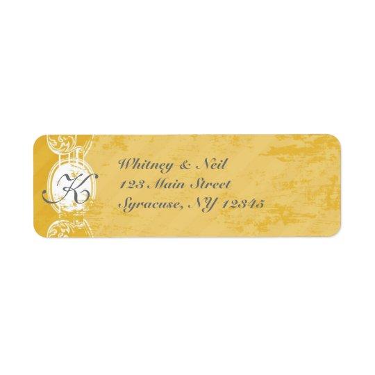 Return Address Labels Vintage Grunge Collection