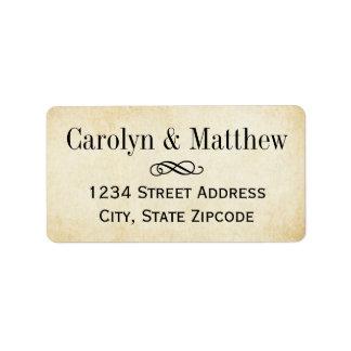 Return Address Labels | Vintage Parchment Style