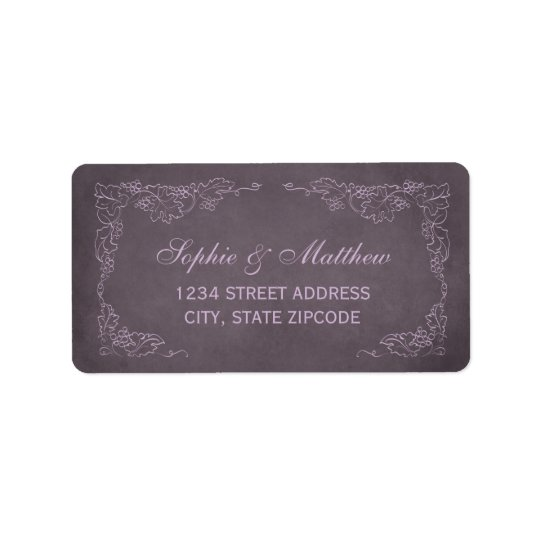 Return Address Labels | Vintage Vineyard Design