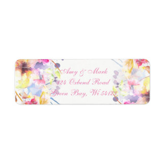 Return Address Labels - Watercolor Design