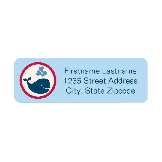 Return Address Labels | Whale Blue Navy Red