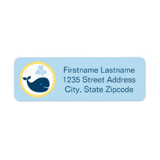 Return Address Labels | Whale Blue Navy Yellow