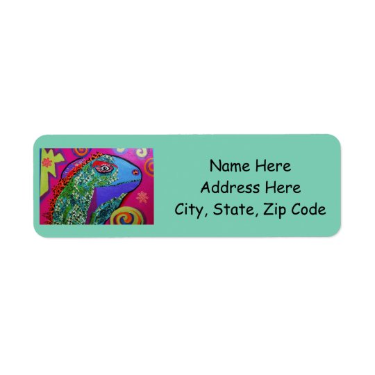 Return Address Labels with Bright Lizard