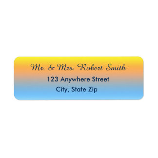 Return Address Labels with Sunset Beach Colors