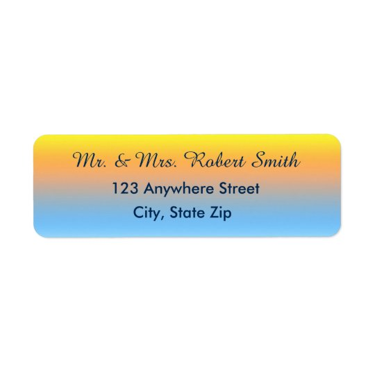 Return Address Labels with Sunset Beach Colours