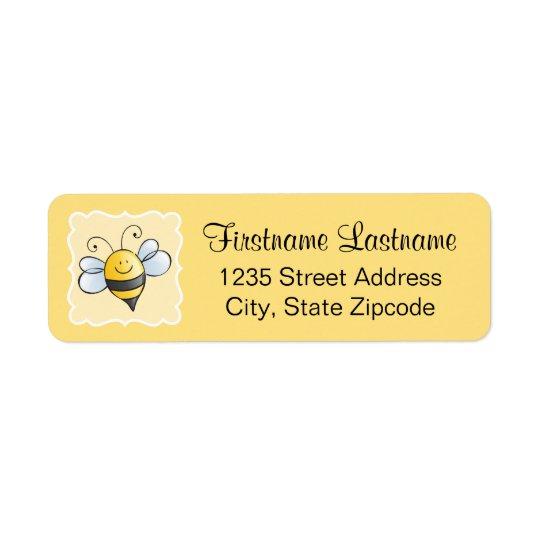 Return Address Labels | Yellow Bumblebee