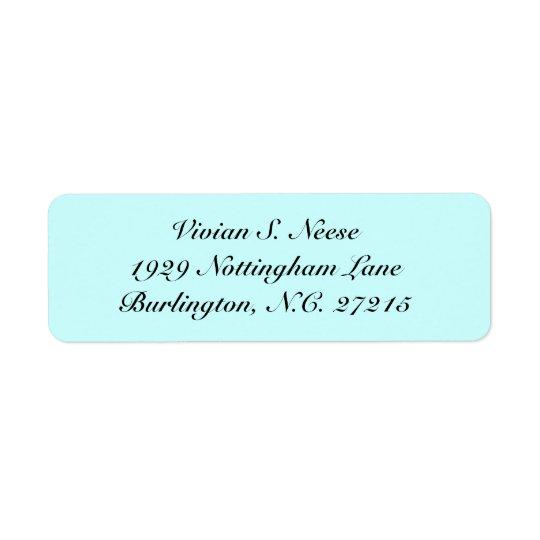 return address lable return address label