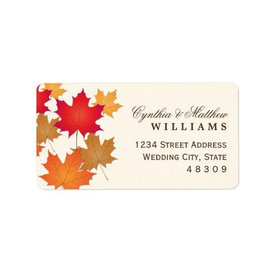 Return Address Sticker | Fall Leaves Design